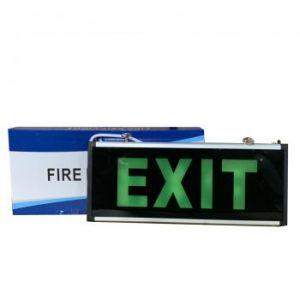 Đèn Exit 2 mặt không chỉ hướng AED